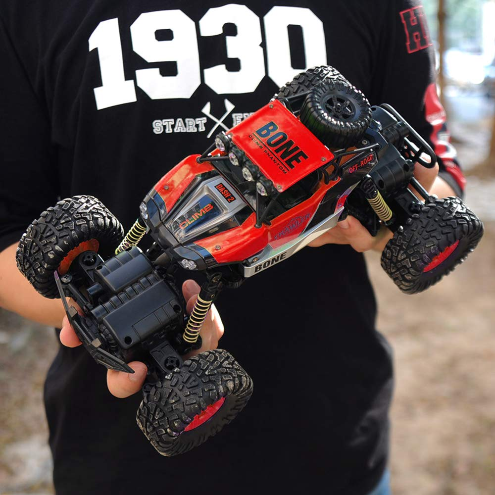 Gizmovine RC Cars 4WD Rock Crawler Large Size Boys Remote Control Cars and Trucks 2.4Ghz Transformer Toy Electronic Monster Truck R/C Off Road for Kids, 2019 Update Version (Red) by Gizmovine (Image #7)