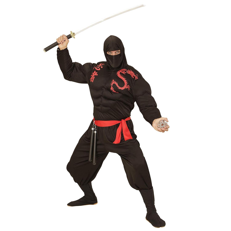 WIDMANN Disfraz de Ninja musculoso para Hombre - S: Amazon ...