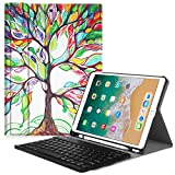 Fintie Keyboard Case with Built-in Apple Pencil Holder for iPad Air 2019 3rd Gen iPad Pro 10.5