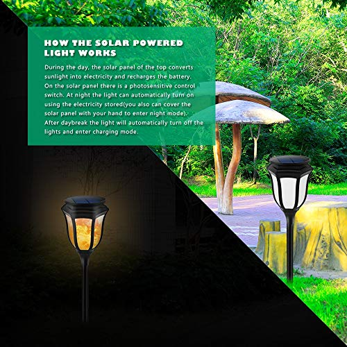 Chuangrong Solar Light Solar Landscape Light Solar Flame Light Outdoor Waterproof LED Light Decorative Garden Light by Chuangrong (Image #2)