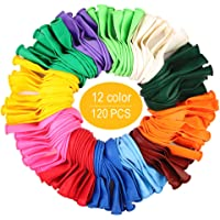 120 PCS Assorted Party Balloons, Latex Balloons for Birthday Party, Exquisite Birthday Balloons, 12 Inches & 12 Kinds of Rianbow Color Balloon Arch Kit.