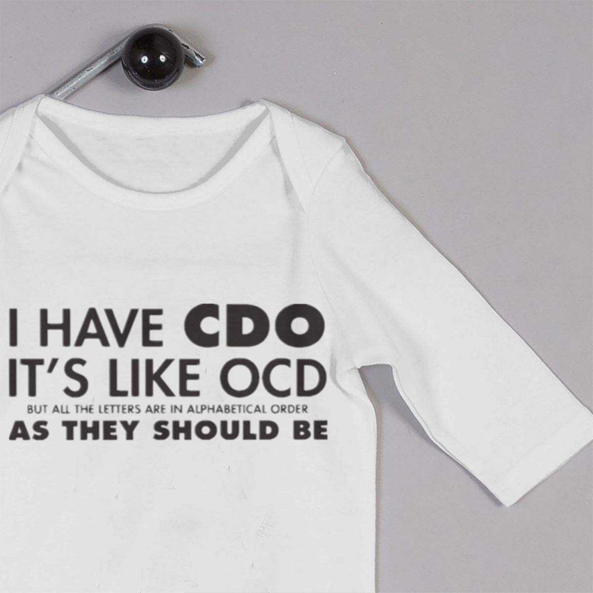 I Have CDO Its Like OCD Newborn Baby Boy Girl Romper Jumpsuit Long Sleeve Bodysuit Overalls Outfits Clothes