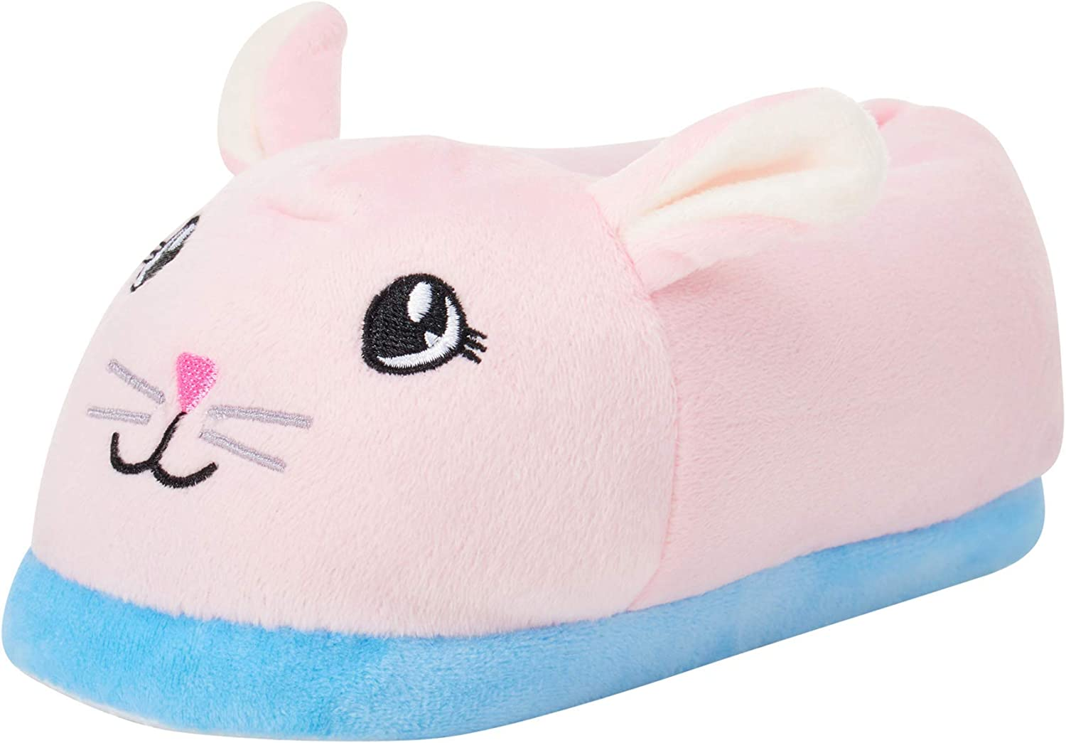 dELiAs Toddler Girls Slippers Plush Animal Critter House Shoes