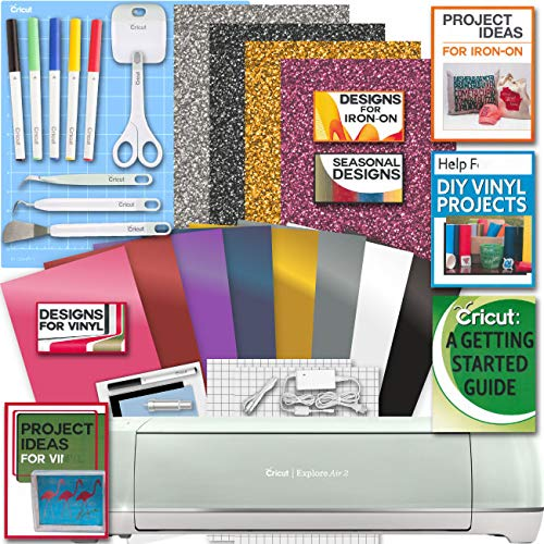 Cricut Explore Air 2 Machine Bundle Iron On Vinyl Pack Tools Pen Design Beginner Guide (Letters To Make Your Best Friend Cry)