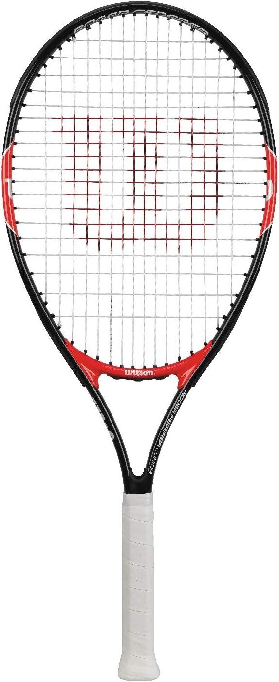Wilson Roger Federer Raqueta, Unisex niños, Rojo (Red/Black), 19
