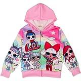 ALaMing Girls Hoodie Zip Sweatshirt LOL Children Coat Cartoon Jacket Outwear Doll Surprise