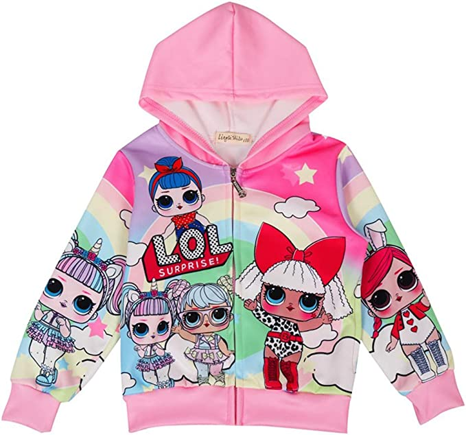 Amazon.com: ALaMing Sudadera con capucha para niñas con ...