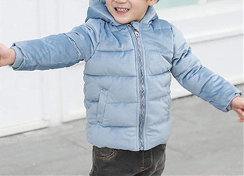 Pandapang Toddler Girls Down Hooded Bubble Winter Velour Thicken Parka Jackets Coat