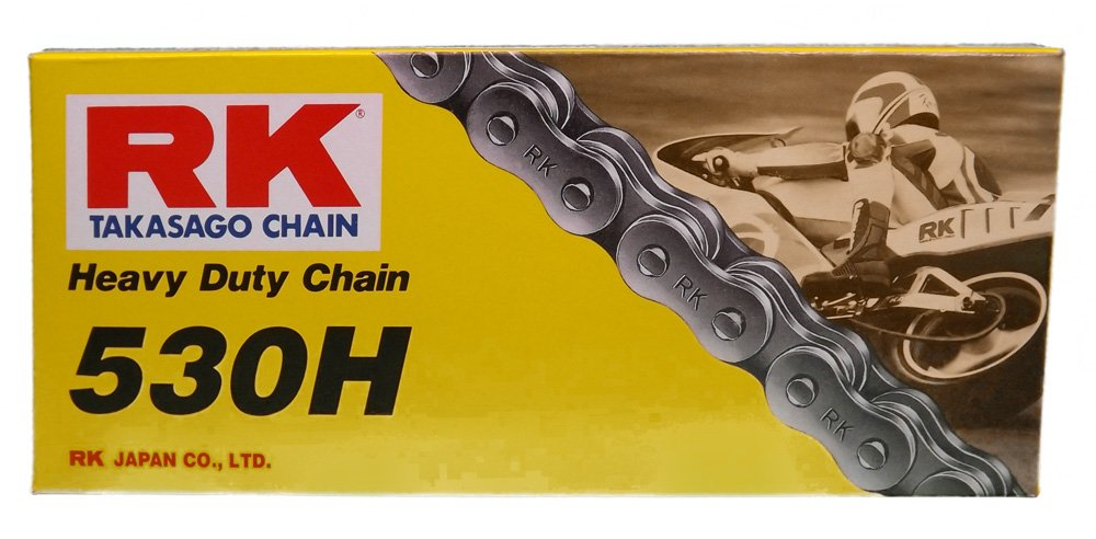 RK Racing Chain M530HD-134 (530 Series) 134-Links Standard Non O-Ring Chain with Connecting Link