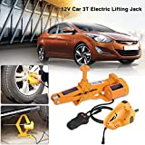 Automotive Electric Car Jack, 3 Ton 12V DC Scissor Lift Jacks Electric Jack Lifting Car SUV Emergency Equipment Impact Wrench with Controller