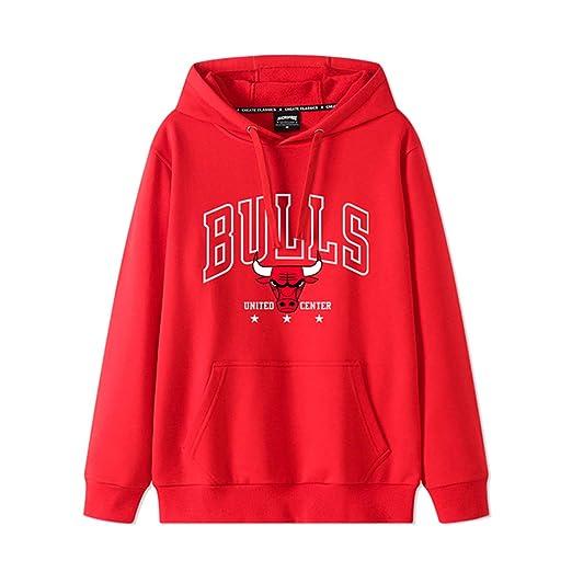 Los Hombres de Chicago Bulls Jersey Manga Larga suéter con Capucha ...