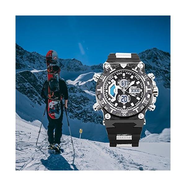 Montre Sport Numérique Montre Bracelet LED Grand Visage Imperméable Militaire Chronomètre SIBOSUN Homme Quartz Japonais…