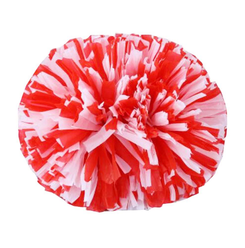 14 Cheerleading Flower Ball Poms Cheerleading Competencia, rojo y blanco Black Temptation