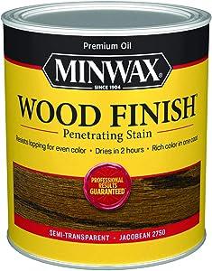 Minwax 70014444 Wood Finish Penetrating Stain, quart, Jacobean