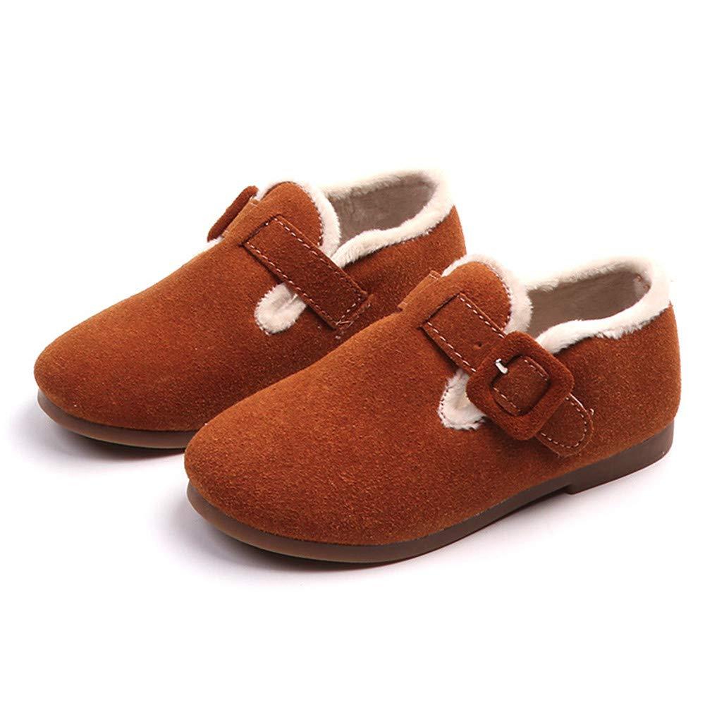 Botas Niña Invierno K-youth Zapatos con Forro Cálido Botines de Suede Boots Zapatos Niña Fiesta Bautizo Zapatillas de Deporte Antideslizantes para Niños ...