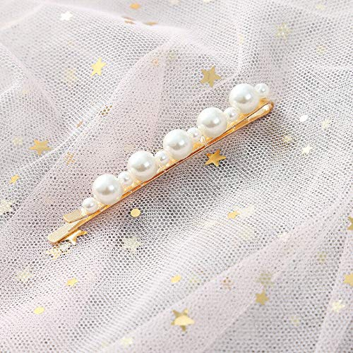 Diamante Crystal Pearl Bead Flower Barrette Hair Clip Clamp Hairpin Hot Jewelry (Styles - 2#001 1Pcs) ()