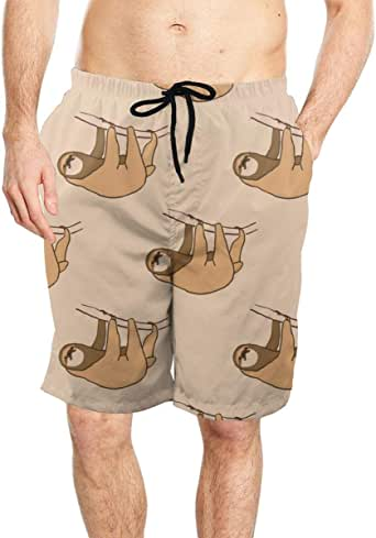 Amazon.com: Mens Cute Hanging Sloth Swim Trunks Quick Dry