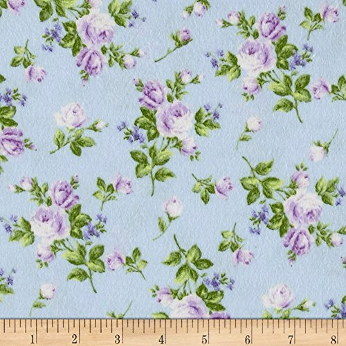 Afternoon In The Attic Flannel Heirloom Floral Lavender Fabric By The (Attic Fabric)
