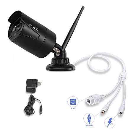 Add-on Camera xmartO WB2054 Wireless Security Camera, H.265 1080p Full HD Wireless Security Surveillance Camera Indoor Outdoor with Night Vision and 4mm Lens, Power Supply Included