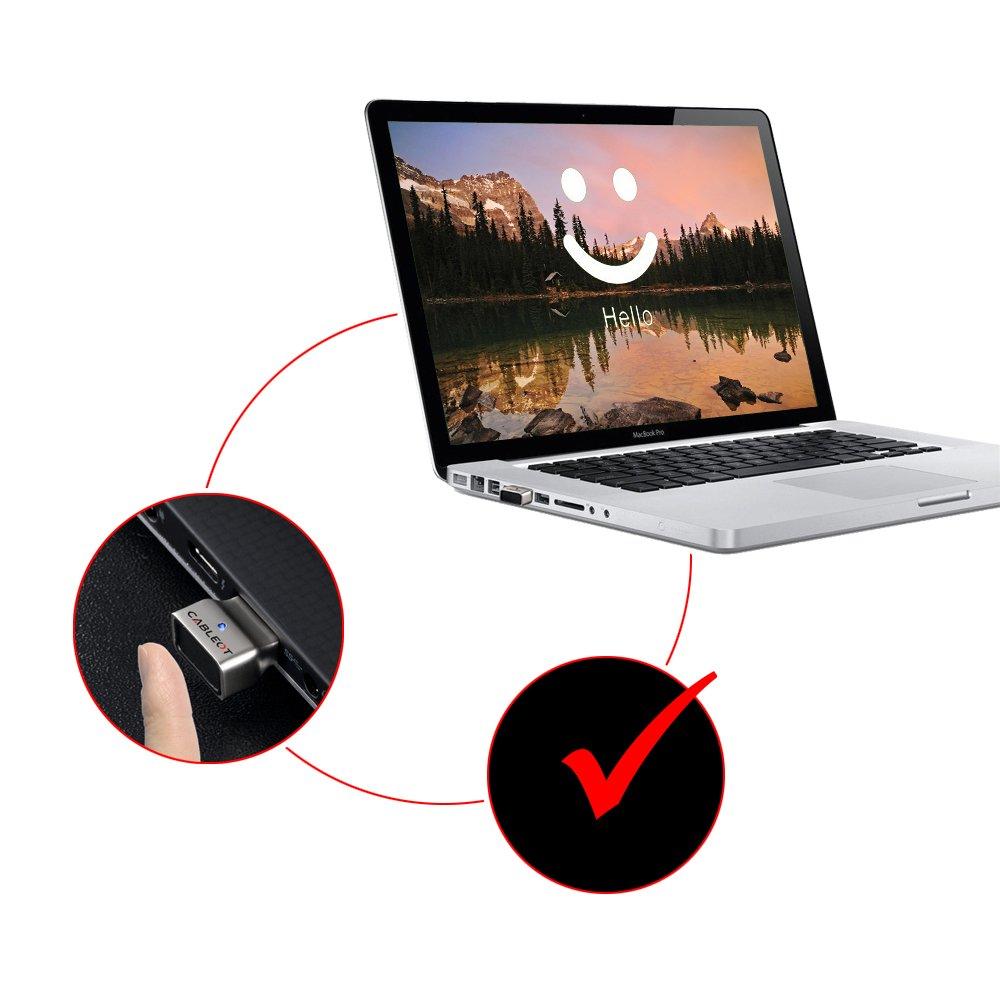 cableot Mini USB lector de huellas dactilares para Windows Hello Multi dedo & 360 grado táctil lector de huellas dactilares para PC compatible con el nuevo ...
