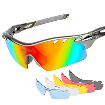 f17f45f8fe2 Polarized Sports Sunglasses with 6 Interchangeable Lenses