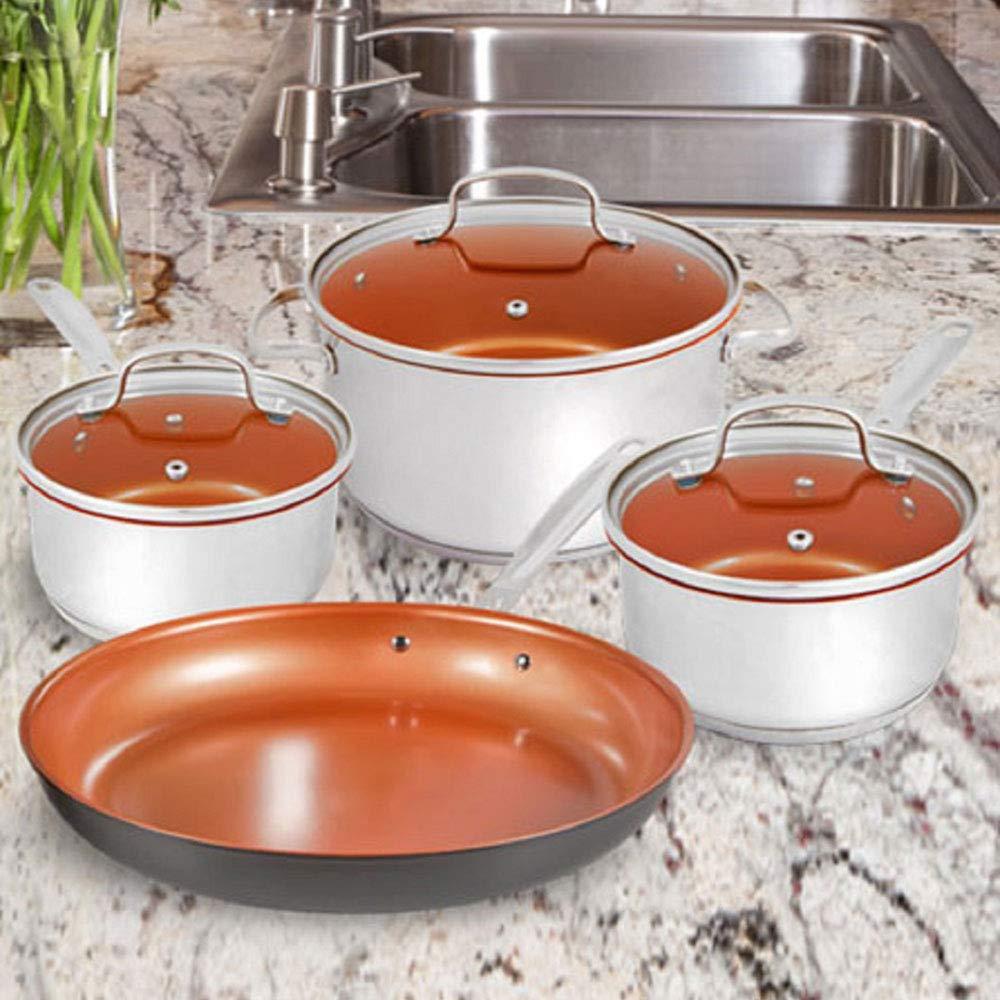 NuWave Duralon Ceramic Nonstick 7-Piece Cookware Set with 12'' Frying Pan