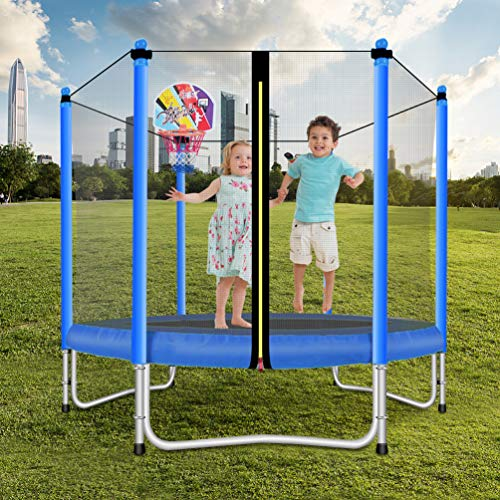 Lovely Snail Trampoline with Basketball Hoop-Trampoline for Kids-Blue-5 Feet by Lovely Snail (Image #2)