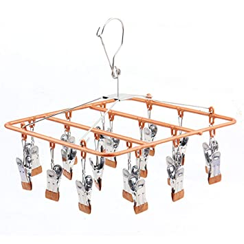 Fengbingl Clavijas para Ropa Secador de Calcetines de Secado Multi-Clip Secador de Disco Redondo Multifuncional de Secado de Ropa: Amazon.es: Hogar