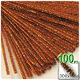 The Crafts Outlet Chenille Sparkly Stems, Pipe Cleaner, 12-in (30-cm), 100-pc, Copper
