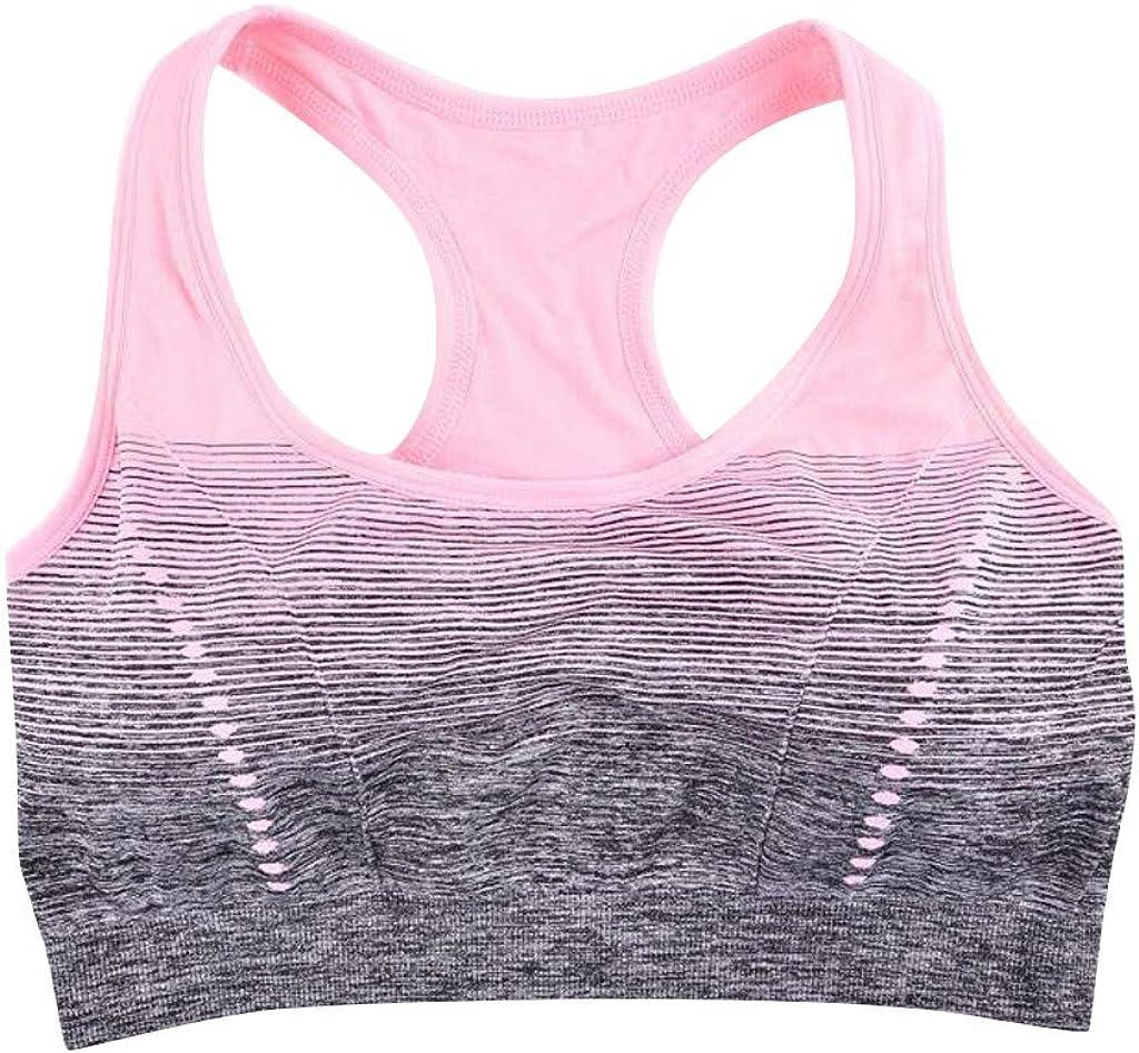 Theoylos Womens Sports Bras Tie Dye Wire Free Workout Sports Bras Ladies Push Up Seamless Yoga Fitness Bra