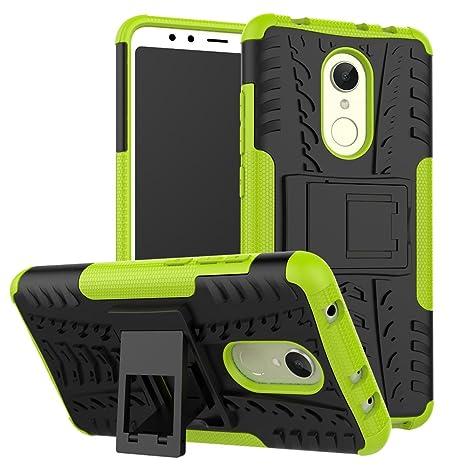 GOZAR Funda Xiaomi Redmi 5, Carcasa Protector Antigolpes Case 360 Protección Rígida Robusta Resistente a los Choques Caídas con Soporte Funda Dura ...