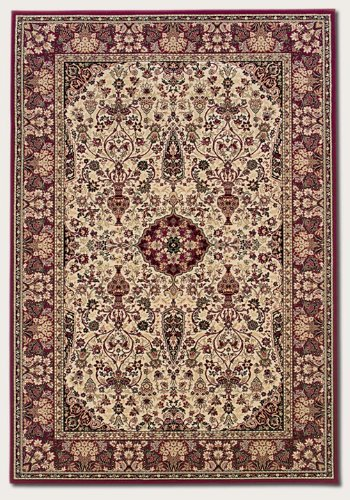 Couristan 3760/6004 Everest Ardebil/Ivory-Red 5-Feet 3-Inch by 7-Feet 6-Inch Rug (Ivory Red Octagon Rug)