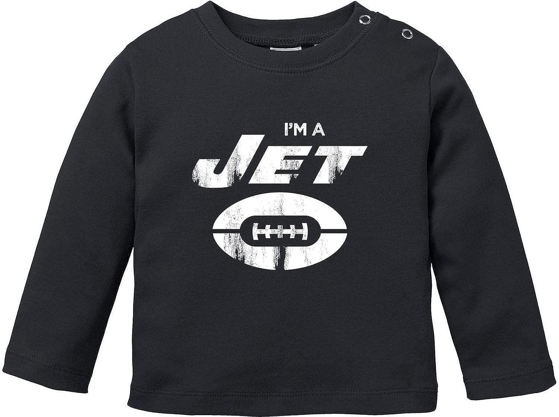 EZYshirt/® I`m a Jet T-Shirt Baby Langarm Bio Baumwolle