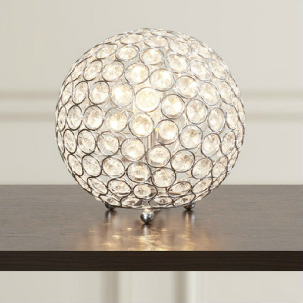 Modern & Luxury Crystal Sphere Table Lamp for Living Room Home Decor ...