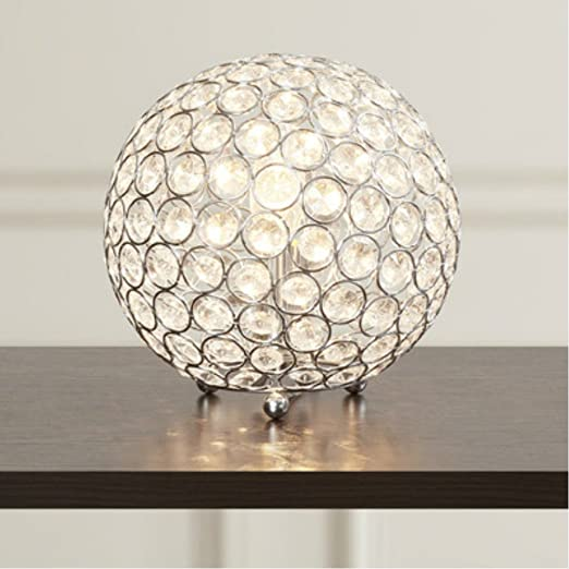Modern Luxury Crystal Sphere Table Lamp For Living Room Home Decor
