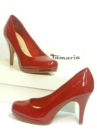 Tamaris Lack Pumps rot Gr. 38: : Schuhe & Handtaschen
