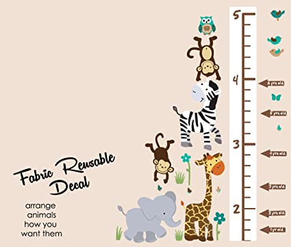Amazon Safari Evergreen Jungle Growth Chart Wall Decals Jungle