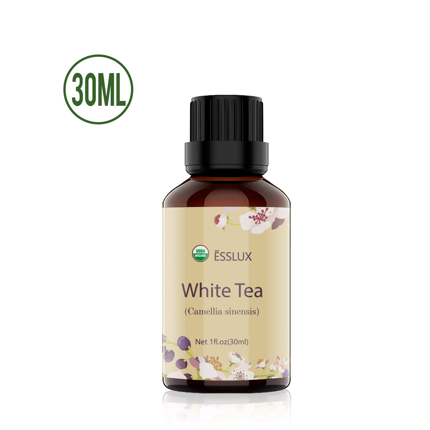 White Tea Essential Oil, ESSLUX Natural Primium Grade Scented Oil for Diffuser, Aromatherapy, 30ml