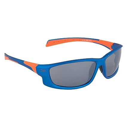 Infinite Eins - Gafas de Sol Deportivas Polarizadas y Ultraligeras Azules y Naranjas con Protección UV400