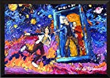 doctor who painting - Uhomate Tardis Dr Who Doctor Who Wall Decor Vincent Van Gogh Starry Night Posters Home Canvas Wall Art Print Anniversary Gifts Baby Gift Nursery Decor Living Room Wall Decor A098 (8X10)