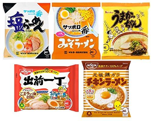 컵라면  일본라면 5 종 : 소금라면 된장라면 능숙 짱 배달 일인분 치킨라면 (각 1 식 세트 (총 5 식)) /  (각 2 식 세트 (총 10 식))