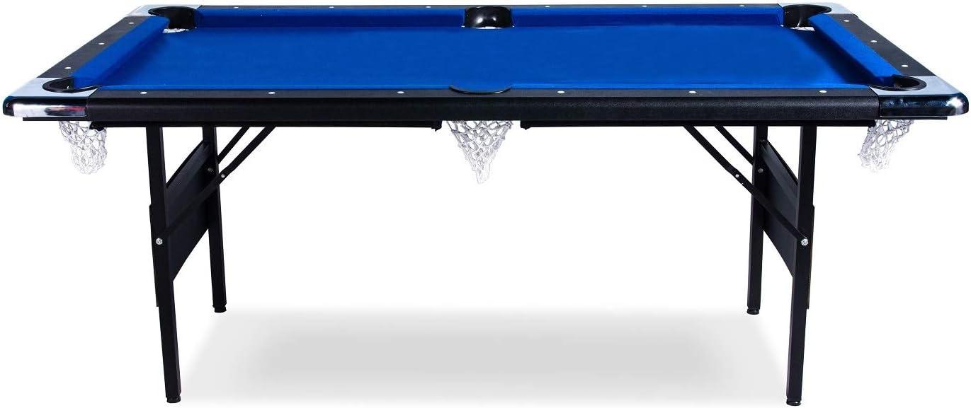 Buckshot - Mesa de billar (193 x 109 x 81 cm, plegable, con ...