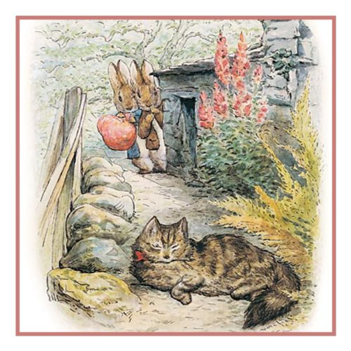 Peter and Benjamin See a Cat by Beatrix Potter Counted Cross Stitch... Bunny Needlepoint