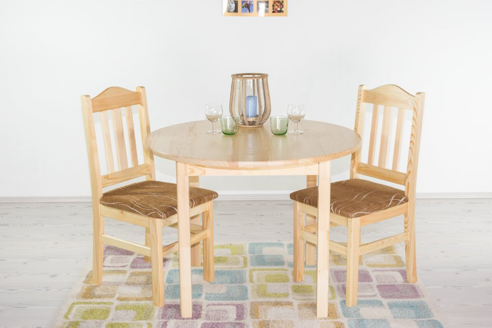 Tisch Kiefer massiv Vollholz natur Junco 235A (rund) - - - Durchmesser 100 cm a7d5cf