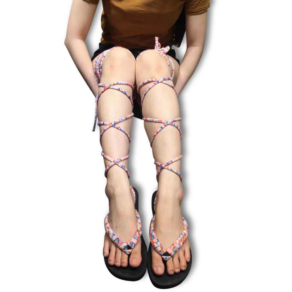 Hacookies,Fantastic DIY Wool Blend Shoe Laces Women's Flip-Flop Sandal Shoelaces