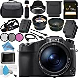Sony Cyber-shot DSC-RX10 IV DSCRX10M4/B Digital Camera + 128GB SDXC Card + NP-FW50 Lithium Ion Battery + 72mm 3 Piece Filter Kit + 72mm 2x Telephoto Lens + 72mm Wide Angle Lens + Carrying Case Bundle
