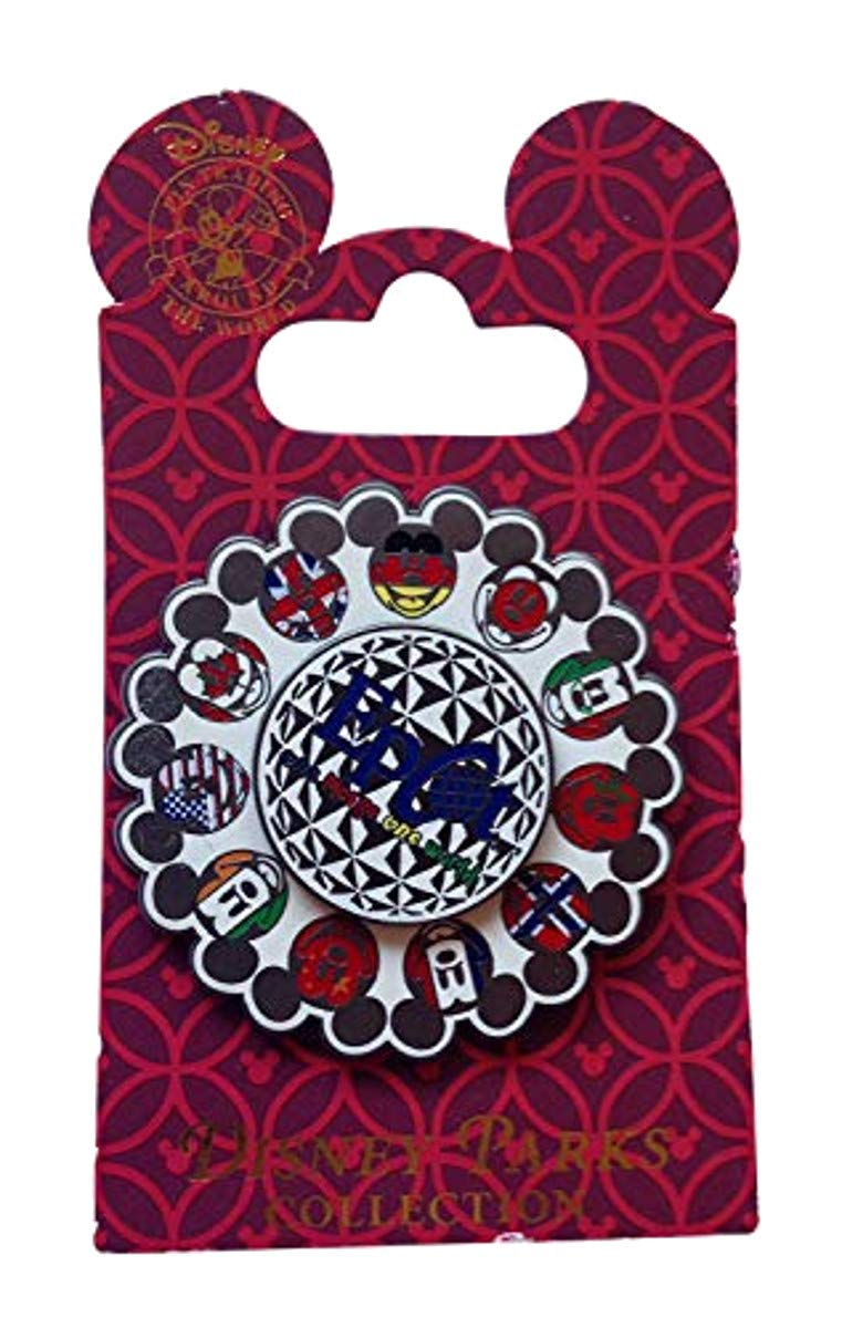 EPCOT Mickey Icons Flags Spinner Disney Pin