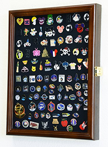 Lapel Pin Pins Display Case Cabinet Wall Rack Holder