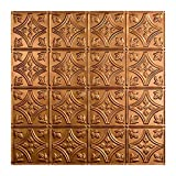 Fasade Easy Installation Traditional 1 Antique Bronze Lay In Ceiling Tile/Ceiling Panel (2' x 2' Tile)