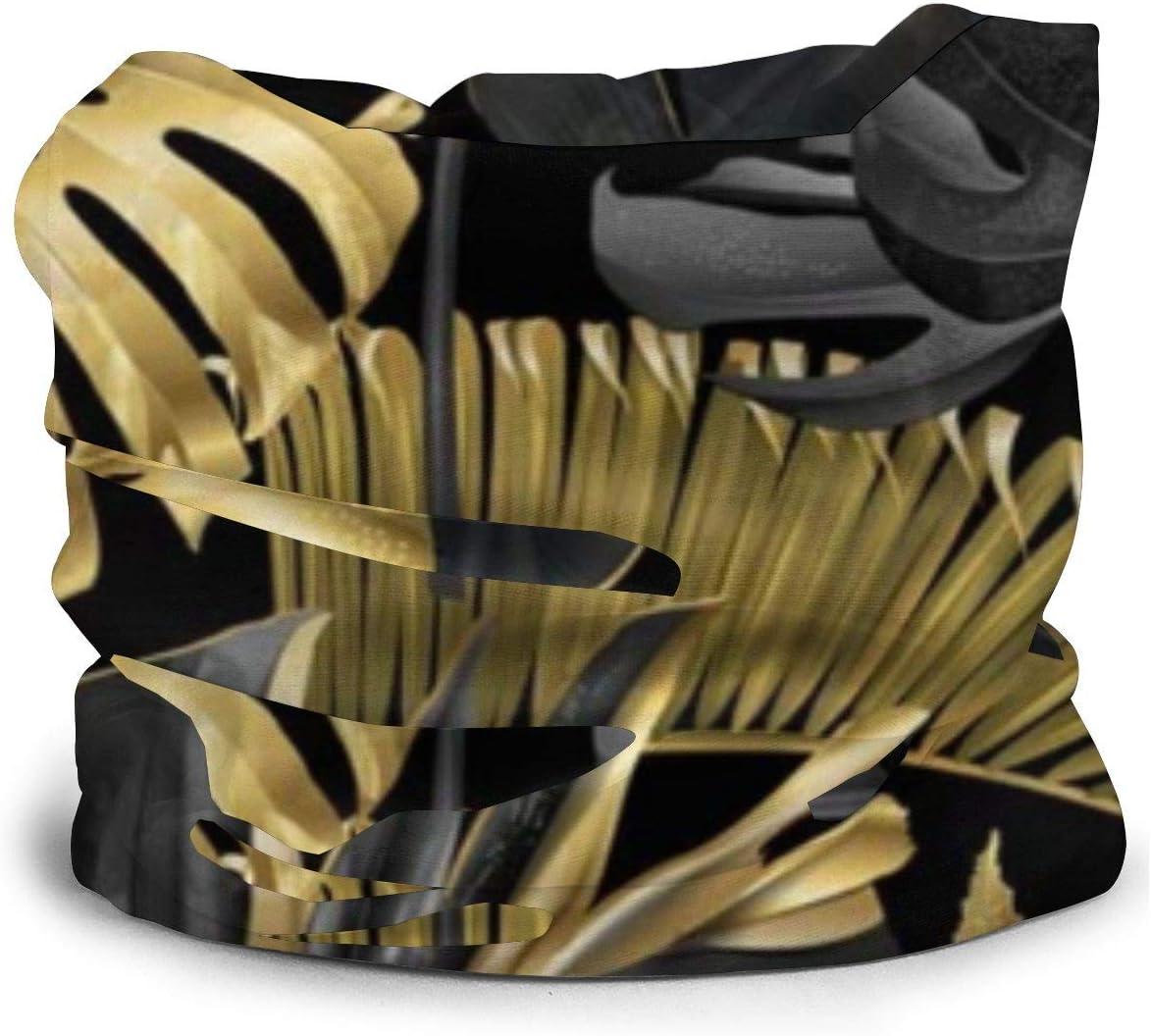 Pillow Socks Oro Negro Tropical Mujer Var/ón Var/ón Pa/ñuelo en la Cabeza Varios pa/ñuelos en la Cabeza Bandanas y pasamonta/ñas multifuncionales